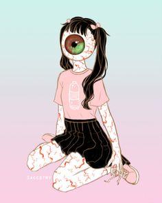 Stylish eyeball girl