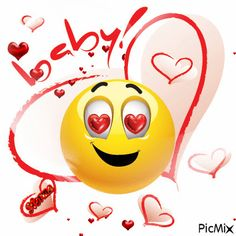 It's so romantic to send a sweet message filled with our lovable emoticons and smileys. Smiley Emoji, Smiley T Shirt, Love Smiley, Emoji Love, Cute Emoji, Kiss Me Love, I Love You Baby, Just Smile, Funny Emoji Faces