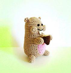 "Hamster with Hazelnut - Free Amigurumi Crochet Pattern - PDF File - Click to ""download"" here: http://www.ravelry.com/patterns/library/hamster-with-hazelnut"