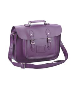 Purple Satchel Bag