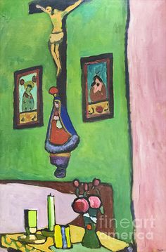 Home    |  Gabriele Munter Art    |  #1 of 2  |    PREV    |    Stilleben Mit Herrgottswinkel By Gabriele Munter