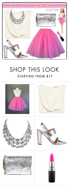 """""""Dress like Barbie"""" by norma-licata ❤ liked on Polyvore featuring Rachel Comey, Loeffler Randall and MAC Cosmetics"""
