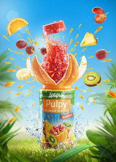 Tropical Splash on Behance Creative Poster Design, Ads Creative, Creative Posters, Creative Advertising, Advertising Design, Advertising Ideas, Advertising Campaign, Poster Ads, Branding
