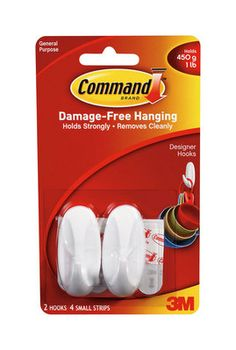 Adhesive Hooks- Don't forget these for the dorms.