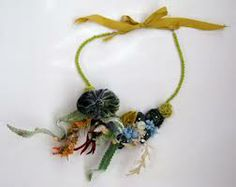 fabric necklace - Google Search