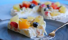 Dole Tropical Fruit Coconut Pizza - from Adventures in All Things Food #tropicalfruit #CBias