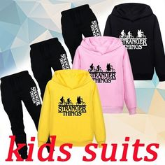 Kids Suits, Stranger Things, Graphic Sweatshirt, Sweatshirts, Clothing, Sweaters, Fashion, Strange Things, Outfits