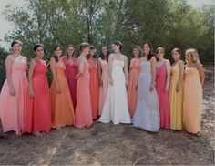 Really like bridesmaids dresses. A lot of tones to choose from. See more at, http://www.photographyinstyle.com