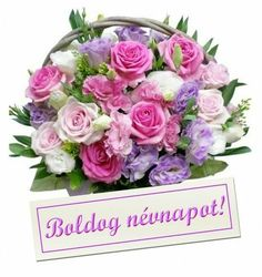 Birthday Greetings, Happy Birthday, Happy Name Day, Flower Basket, Topiary, Cut Flowers, Holidays And Events, Flower Arrangements, Diy And Crafts