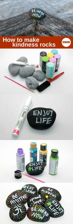 Here's an idea for sending love into the universe without spending a lot of money! DIY Kindness Rocks
