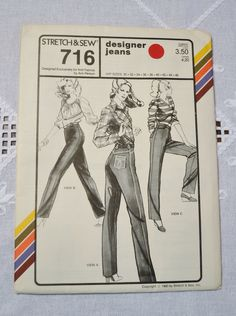 Stretch and Sew 716 Sewing Pattern Misses Designer Jeans Hip Sizes 30 to 46 DIY Sewing Vintage Sewing Pattern PanchosPorch So Creative, Vintage Sewing Patterns, Buy And Sell, Jeans, Diy, Handmade, Design, Hand Made, Bricolage