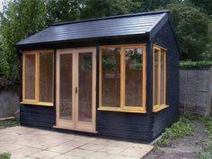 24 Ideas garden shed office backyard studio spaces Outdoor Office, Backyard Office, Backyard Studio, Backyard Sheds, Garden Office, Backyard Plants, Outdoor Art, Outdoor Spaces, Studio Hangar