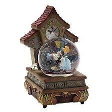 Disney Pinocchio Jiminy Figure Dancing Musical Snow Globe Clock Animated Snowglobe Snow Globes Musical Snow Globes Disney Snowglobes