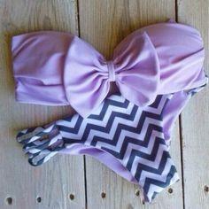 Purple bow bikini