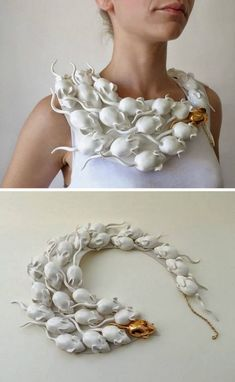 halloweencrafts: DIY Inspiration: Raluca Bazura's Porcelain Jewelry Both th. - halloweencrafts: DIY Inspiration: Raluca Bazura's Porcelain Jewelry Both these ideas can be us - Costume Halloween, Halloween Party Kostüm, Holidays Halloween, Halloween Crafts, Halloween Makeup, Creepy Halloween, Paper Halloween, Outdoor Halloween, Vintage Halloween