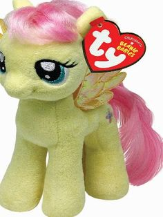My Little Pony Ty Beanie Plush Fluttershy Pony New with Tags! 8 In ~ Great b8e37f49298d