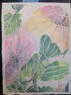 """Original watercolor painting of flowers with white outline. 15""""x11"""" – Tamm's Marketplace"""