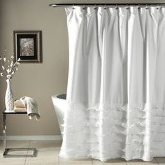 Lush Decor Avery Shower Curtain 72 By White