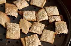 Sesame Socca Crackers by Healthful Pursuit
