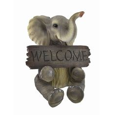 Adorable `Pachy Princess` Baby Elephant `Welcome` Sign Home Decor ** To view further for this item, visit the image link. (This is an affiliate link) Elephant Love, Little Elephant, Elephant Gifts, Elephant Stuff, Mom And Baby Elephant, Elephant Artwork, Funny Elephant, Elephant Mugs, Elephant Pictures