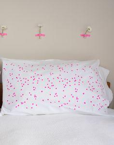 Henry & Co Pillowcase - Confetti Fluro Pink - Good Regards - Unique Homewares & Gifts