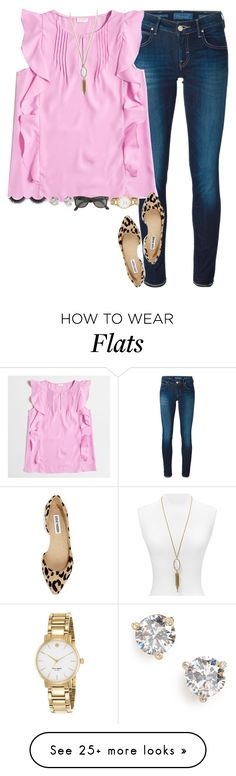 """more spring vibes"" by gourney on Polyvore featuring Jacob Cohёn, J.Crew, Steve Madden, Kate Spade, Kendra Scott, women's clothing, women's fashion, women, female and woman"
