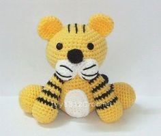 Tiger - Finished Handmade Amigurumi crochet doll Home