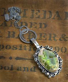 Wavelite Specimen Stone Sterling Silver Necklace One by joykruse, $295.00