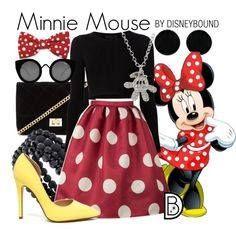 Mini mouse dress white dots full kit