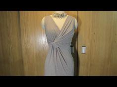 Hướng dẫn thiết kế váy xoắn nhún eo tại Thời Trang Thủy | Draping on the X-dress - YouTube