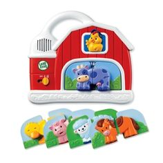 LeapFrog Fridge Farm Magnetic Animal Set is fun for children ages 6 months to 3 years old but I have seen children as old as 5 years old, still enjoying it. Place the farm on the refrigerator and let your child have lots of fun with the 5 animal sets Magnetic Toys, Developmental Toys, Electronic Toys, Puzzle Toys, All Toys, Learning Toys, Baby Play, Educational Toys, Farm Animals
