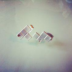 Stackin Bricks Earrings #tetris #jewelry