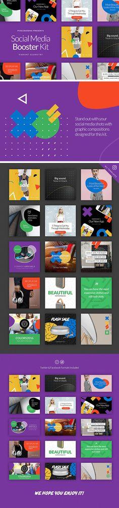 Social Media Booster Kit - download freebie by PixelBuddha