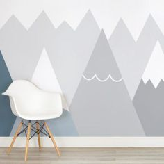 kids-blue-and-grey-mountains-nursery-square-wall-mural - Tap the pin if you love super heroes too! Cause guess what? you will LOVE these super hero fitness shirts!