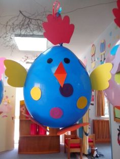 Cut and paste balloon hens