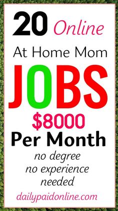 There are a lot of legit work from home jobs that are hiring now. Here, I will share a few top best real legitimate flexible high paying remote non phone part time and full time work at home online job ideas that are perfect for moms, teens, students, teachers, beginners, men, women, and other people. You can make extra money doing these fee free late night jobs even you have no experience #workfromhome #homejobs #workfromhomejobs #money #makemoneyonline #makemoneyfromhome #makemoneyathome Ways To Earn Money, Earn Money From Home, Earn Money Online, Way To Make Money, Money Fast, Money Today, Making Money From Home, Free Money Now, Online Earning