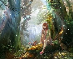 fantasy forest scenery tree house images - Google Search