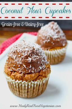 Coconut Flour Cupcakes (grain-free, dairy-free) @ Healy Real Food Vegetarian