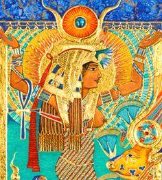 Honoring Hwt-Her: Prayers & Invocations to Hathor – Kemetically Speaking Isis Goddess, Egyptian Goddess, Eye Of Ra, Ancient Egypt, Deities, Prayers, Painting, Divine Feminine, Goddesses