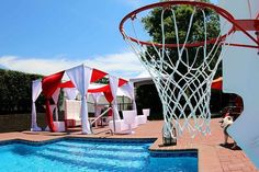 Booking a Cabana for your next summer event is a Slam dunk! Available in a variety of colors to match your theme. These colors were used for their high school colors.  #InfiniteNyEvents #infiniteny #HighSchool #highschoolgraduation #CelebrationParty #outdoorparty #OutdoorLounge #DayParty #hamptons #hamptonsstyle #Summer #draping #PipeAndDrape #eventdraping #PartyDecor #PartyRentals #partyplanner #eventplanner #nypartyplanner #evedeso #eventdesignsource - posted by Infinite Events…