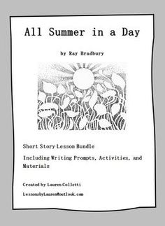 picture regarding All Summer in a Day Worksheet named 17 Ideal Lesson Materials illustrations or photos Clroom, Discovering, College