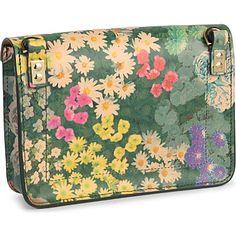 SOPHIE HULME Mini matt leather shoulder bag (Floral multi