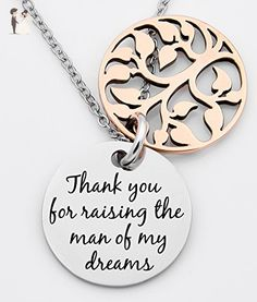 Mother of the bride necklace, Mother of the groom gift, Thank you for raising the man of my dreams, Thank you for raising the woman of my dreams, wedding gift, - Wedding nacklaces (*Amazon Partner-Link)
