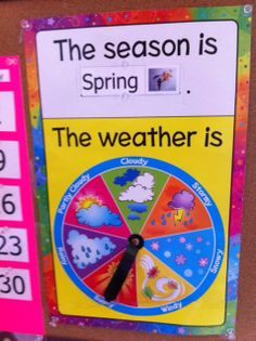Weather Chart Kindergarten Printable | Preschool: Seasons ...