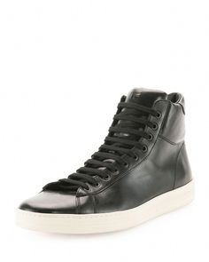 timeless design c1bb6 21b5d Tom Ford Men, Mens Designer Shoes, Men Store, Leather High Tops, Sport
