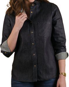 EMB Denim   Women's Button Up Denim Shirt Jacket   Tradlands