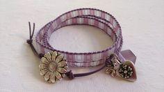 Purple/lilac leather wrap. Friendship Yoga, Yoga Mala, Wrap Bracelets, Purple Lilac, Leather, Jewelry, Jewlery, Jewerly, Wire Wrap Bracelets