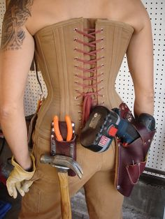 Carhartt Work Corset, not that I could sew such a thing. It's just nice to look at. No lace or leather or silk here...