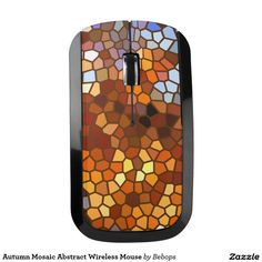 Autumn Mosaic Abstract Wireless Mouse