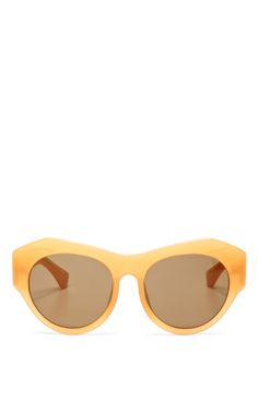 Shop For Dries Van Noten D-Frame Acetate Sunglasses by Linda Farrow Now Available on Moda Operandi